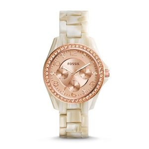 Fossil Riley Pearlized Resin Watch